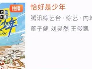 《恰好是少年》终于定档了,对王俊凯针对令人意外 综艺,恰巧是少年,王俊凯,刘昊然