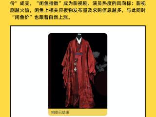 热门影视剧《山河令》戏服、道具在闲鱼拍卖异常火爆 《山河令》