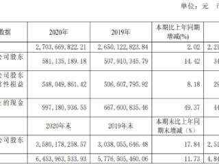 ST舍得:2020年净利润5.81亿元,申请撤销其他风险警示 ST舍得,600702.SH,年报
