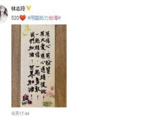 林志玲晒手写信为台湾加油,甜搂AKIRA露幸福笑容身材消瘦 林志玲