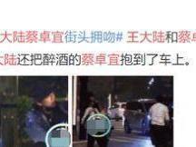 王大陆被拍到与蔡卓妍街上深情拥吻 王大陆