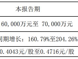 木林森:预计上半年盈利6-7亿,同比增长161%-204% 木林森,002745.SZ,业绩预告