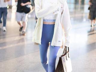苗苗产后穿紧身裤露脐装 大秀蛮腰美腿身材苗条 苗苗