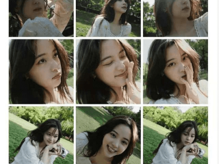 欧阳娜在草坪上拍摄大型照片,网友:我好像看到了我的初恋 欧阳娜