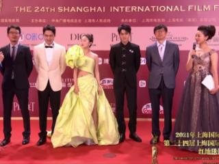 《超越》剧组集体跑步亮相,张蓝心优雅又高级感十足 上海电影节