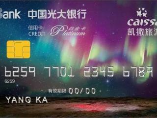 光大银行最该级别旅游联名信用卡,你值得拥有 推荐,光大银行,凯撒旅游,白金信用卡