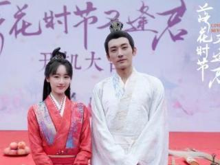 袁冰妍和刘学义主演的电视剧《落花时节又逢君》,定妆照唯美 落花时节