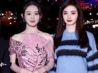 赵丽颖和网红在迪士尼合影,网友:滤镜加得太过了,赵丽颖真的美 赵丽颖
