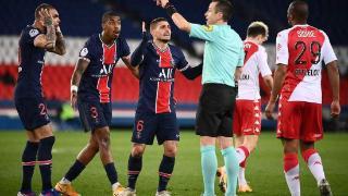 法甲-姆巴佩伊卡尔迪哑火 巴黎0-2负摩纳哥遭双杀