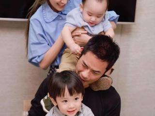陈凯琳为爸爸及老公郑嘉颖及庆生!隔代遗传儿子似足外公?