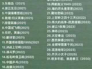 吴京档期已安排至2030年,未来九年工作满满,将出演二十部电影