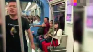 怒!男子地铁内乱吐痰遭女乘客制止,男子不听反飙脏话差点动手
