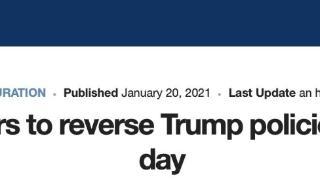 美媒:拜登上任后将签17道行政令,废除特朗普时期多项政策