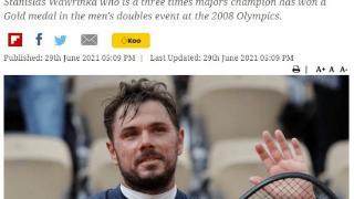 瓦林卡宣布伤退东京奥运 曾与费德勒奥运男双夺魁