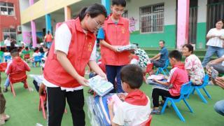 河南省12355青少年服务台公益行走进兰考县谷营镇谷营小学