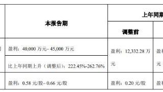 泰和新材:上半年净利润预计同比增长222%-263%