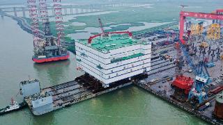 世界最大、亚洲首座海上换流站装船发运!