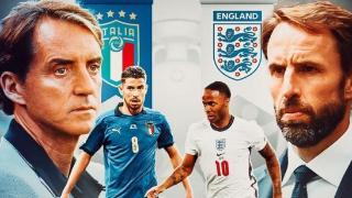 英格兰VS意大利,三狮军团斯特林造点夺冠?