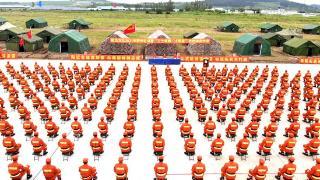 """延边州森林消防支队2021年度野外驻训暨""""卫士林海·火焰蓝""""比武拉开帷幕"""