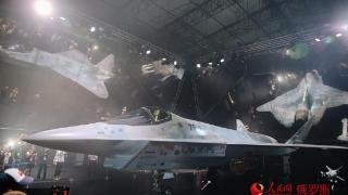 (组图)俄罗斯新型单发五代战机亮相莫斯科航展
