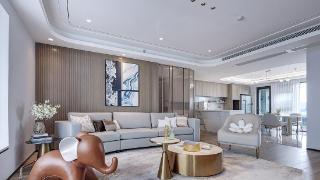 175平现代风惊艳四居室,格调上的低奢传达出年轻化的空间理念